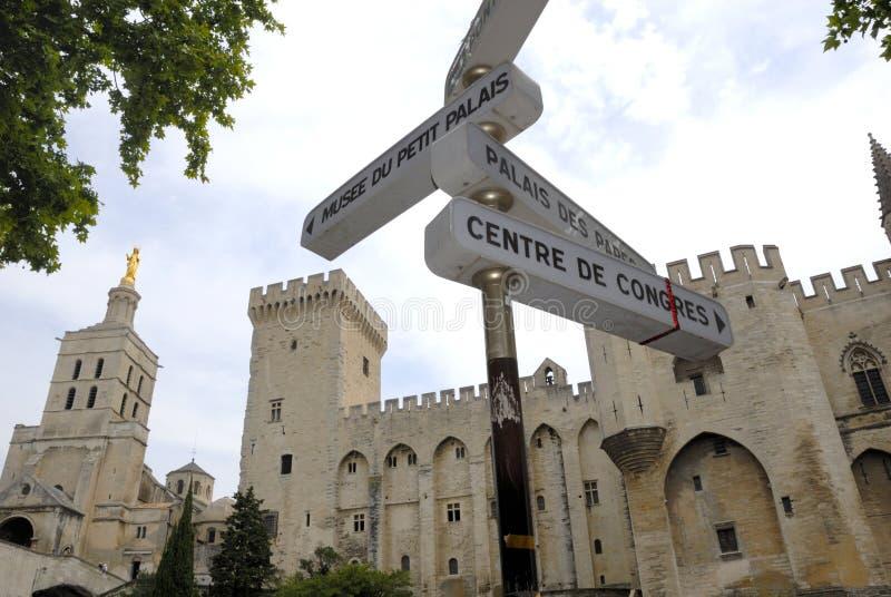 Signez dedans Avignon photo stock