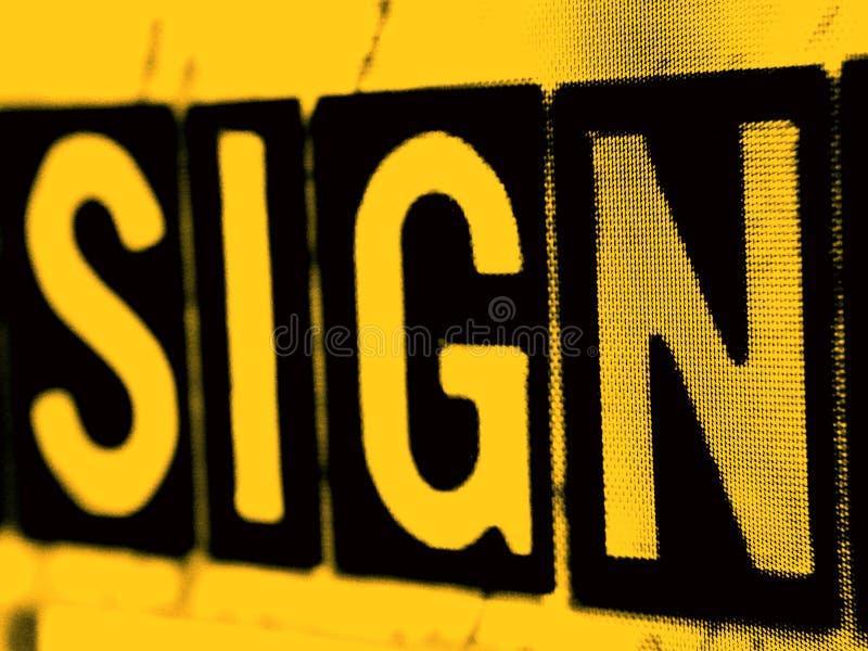 Signez dedans l'orange image libre de droits