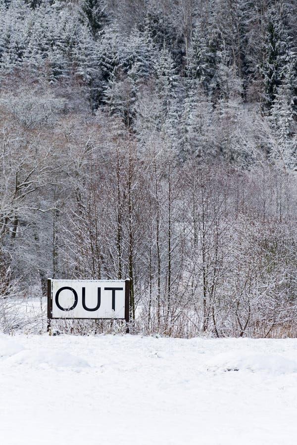 Signez dedans le paysage neigeux, nouvelles années de résolutions, concept de perfectionnement des connaissances personnelles, ch photos stock