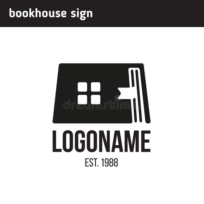 Signez le livre sous forme de maison illustration libre de droits