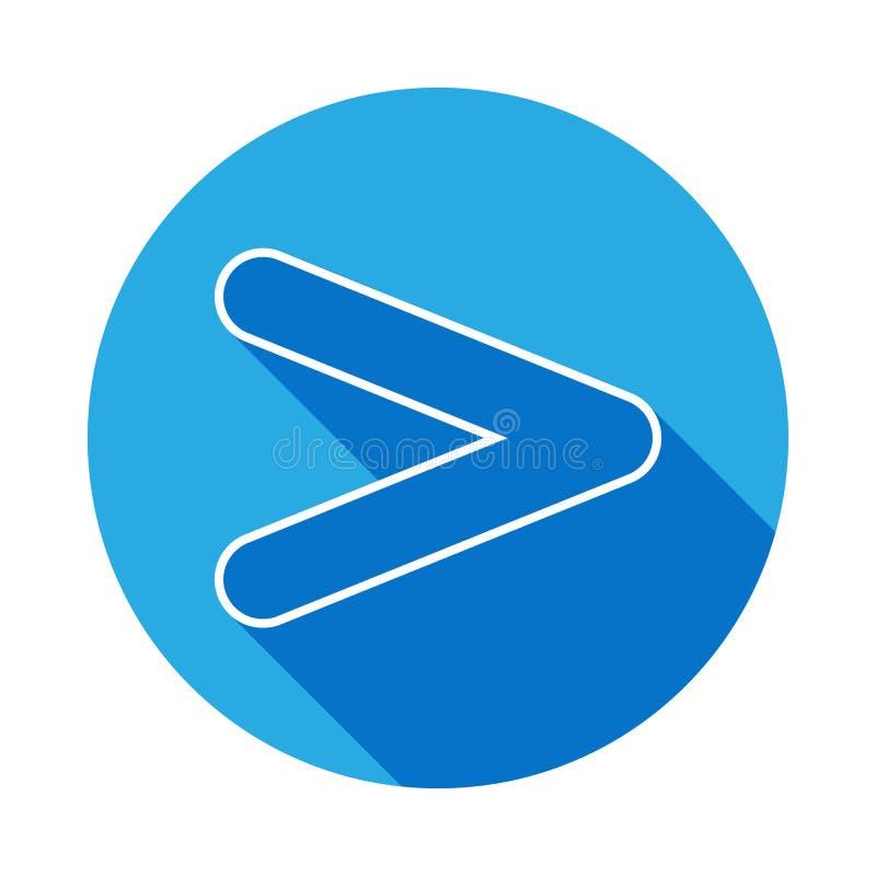 signez plus d'icône avec la longue ombre Ligne mince icône pour la conception de site Web et le développement, développement d'AP illustration stock