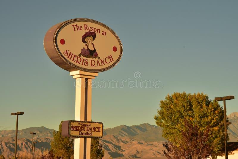 Signez pour le bordel du ` s de Sheri au Nevada photo libre de droits