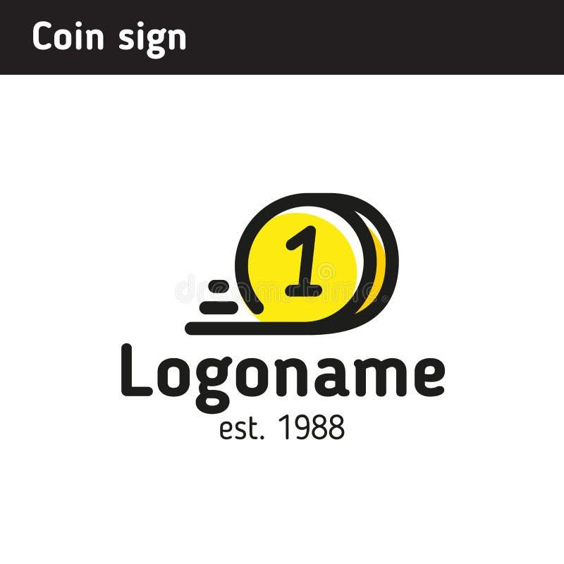 Signez sous forme de pièce de monnaie rapide, un sujet de la crypto devise, a illustration stock