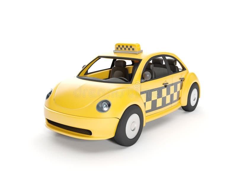 Signez un taxi illustration libre de droits