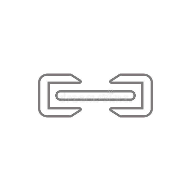 signicon del fichero de la fijación Elemento de la web, minimalistic para el concepto y el icono móviles de los apps de la web Lí stock de ilustración