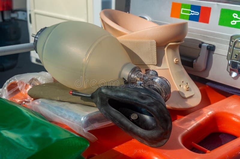 Significa il primo piano artificiale della maschera di respirazione di assistenza medica immagine stock libera da diritti