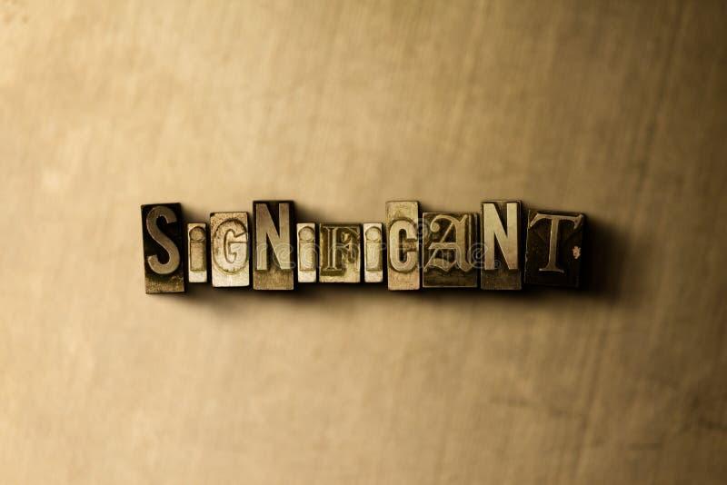 SIGNIFICATIF - le plan rapproché du vintage sale a composé le mot sur le contexte en métal illustration de vecteur
