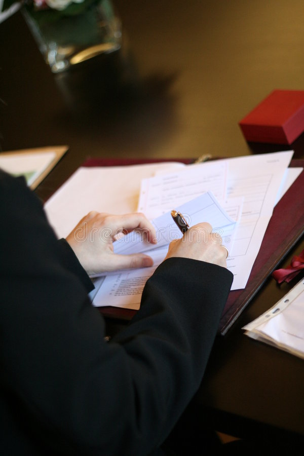 Signing royalty free stock photos