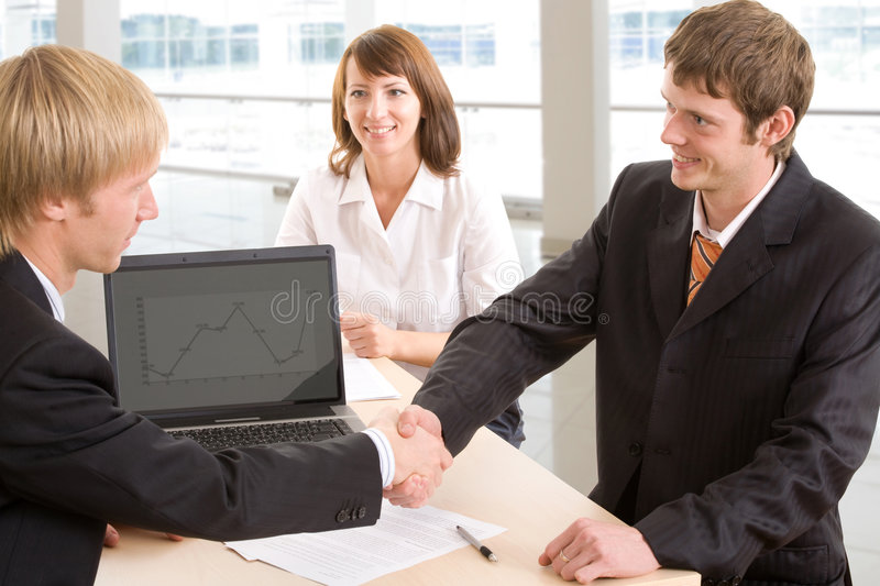 Signing of an agreement royalty free stock photo