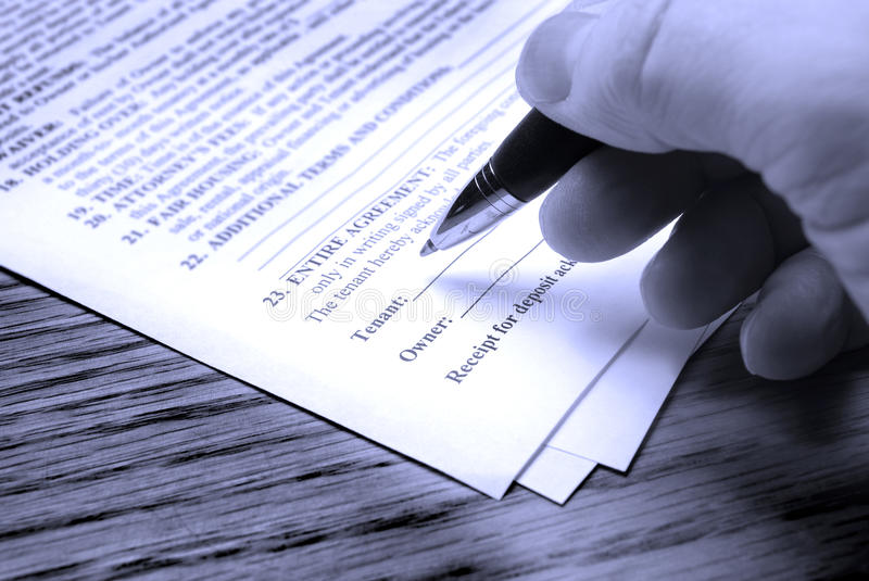 Download Signing Contract stock photo. Image of bound, sign, signature - 15959488