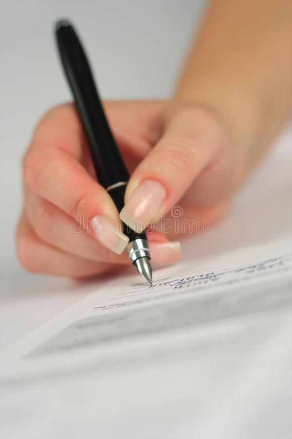 Download Signing contract stock image. Image of form, occupation - 17213869