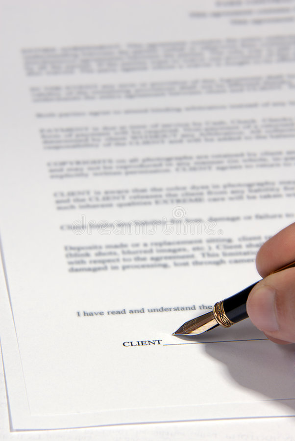 Download Signing a Contract stock image. Image of list, deal, paper - 1829677