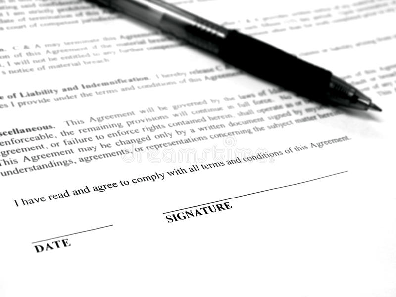 Download Signing Contract stock photo. Image of desk, black, contract - 18811398