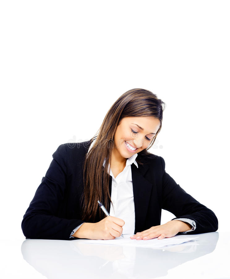 Download Signing contract stock image. Image of contract, isolated - 26667009