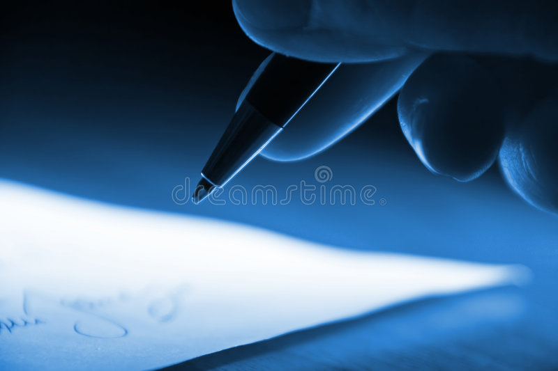 Signing the contract stock photography