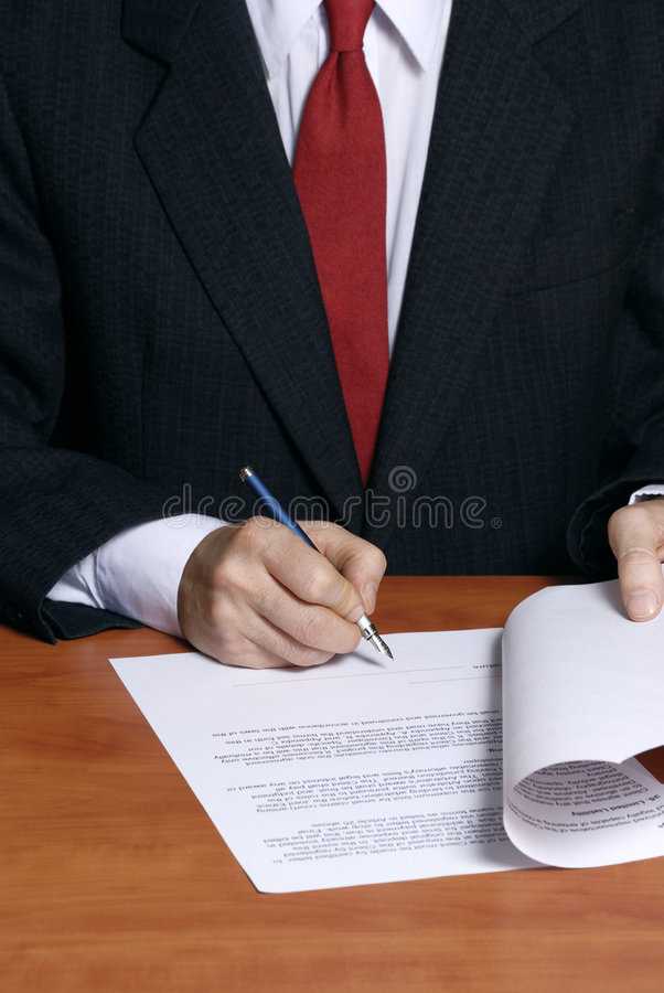 Download Signing a contract stock photo. Image of negotiation, document - 4354264