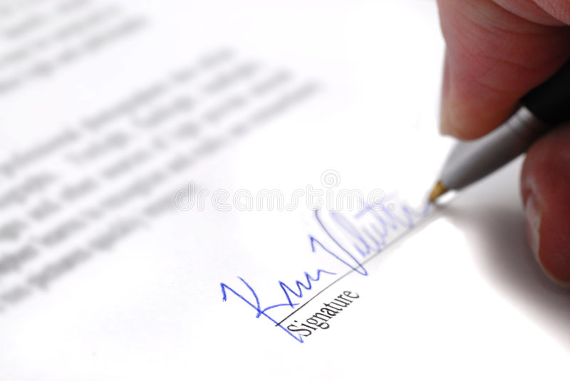 Download Signing Contract stock photo. Image of bind, sign, obligated - 7026100