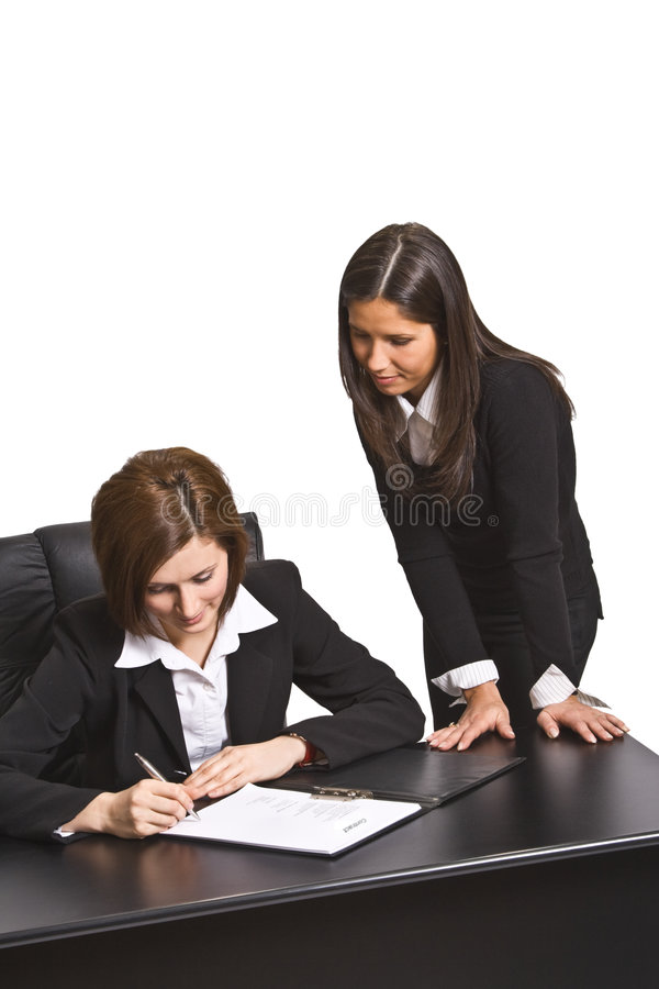 Signing the contract stock photos