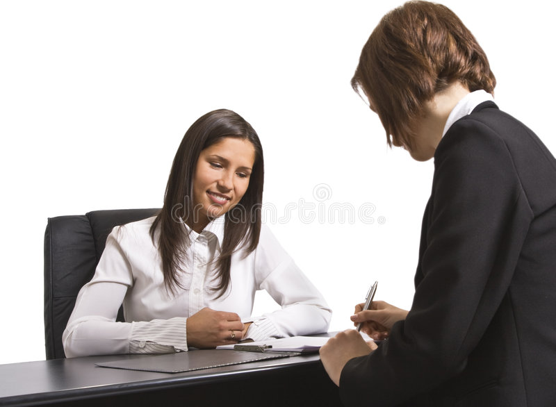 Signing the contract royalty free stock image
