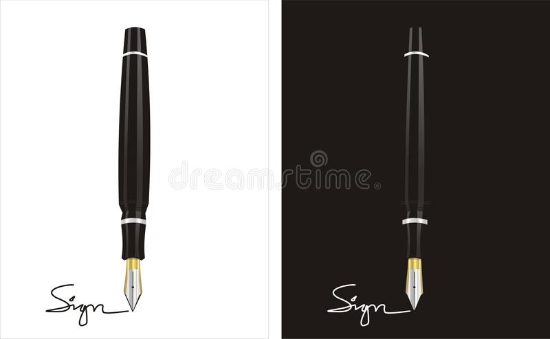 Signing Contract for Business. Best time that every businessman waiting for is a signing contract agreement vector illustration
