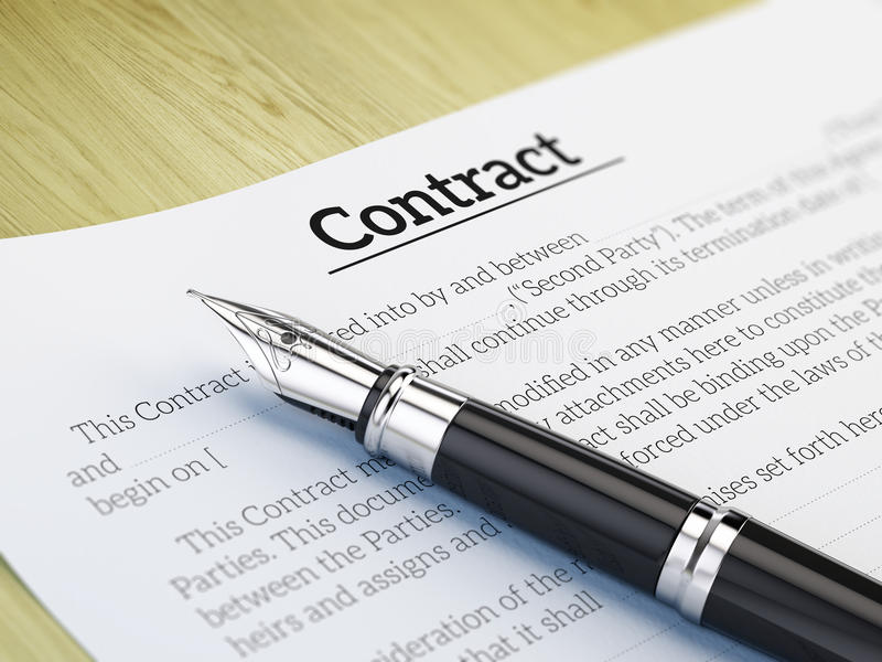 Signing A Contract Concept Stock Illustration  Image
