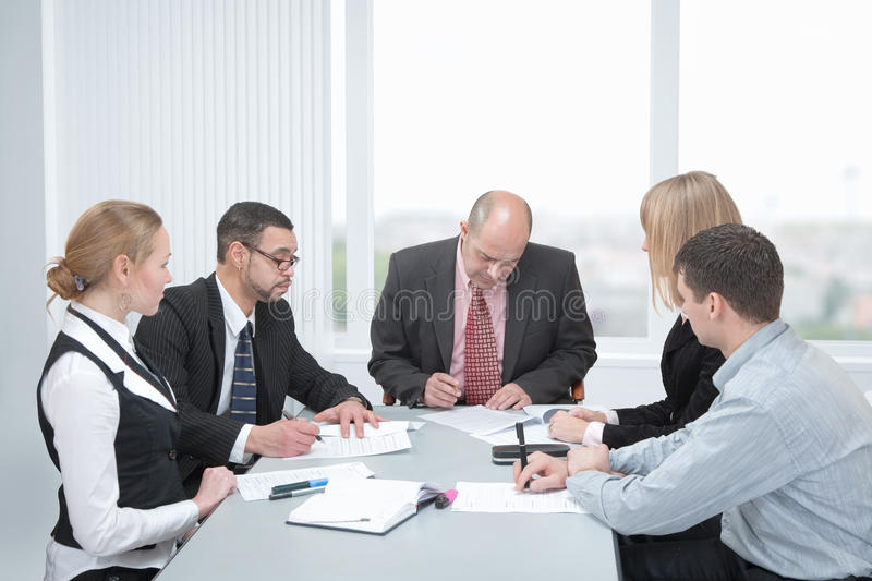 Download Signing a contracts stock image. Image of moment, chair - 13593115