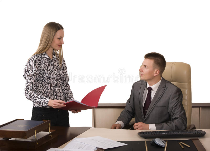 Signing documents stock image