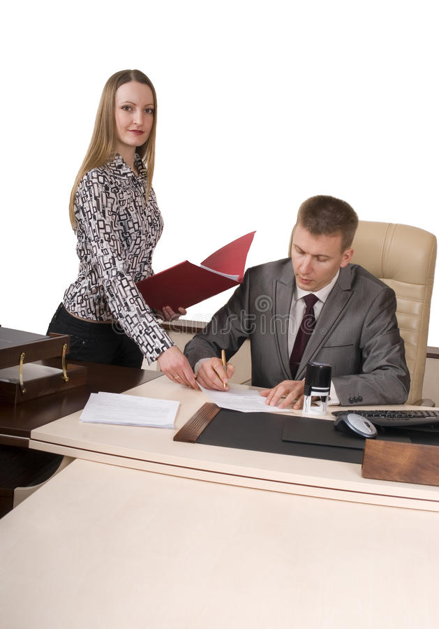 Signing documents royalty free stock photos