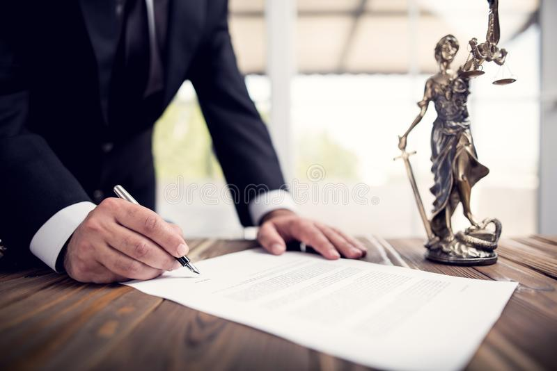 Signing Official Document royalty free stock image