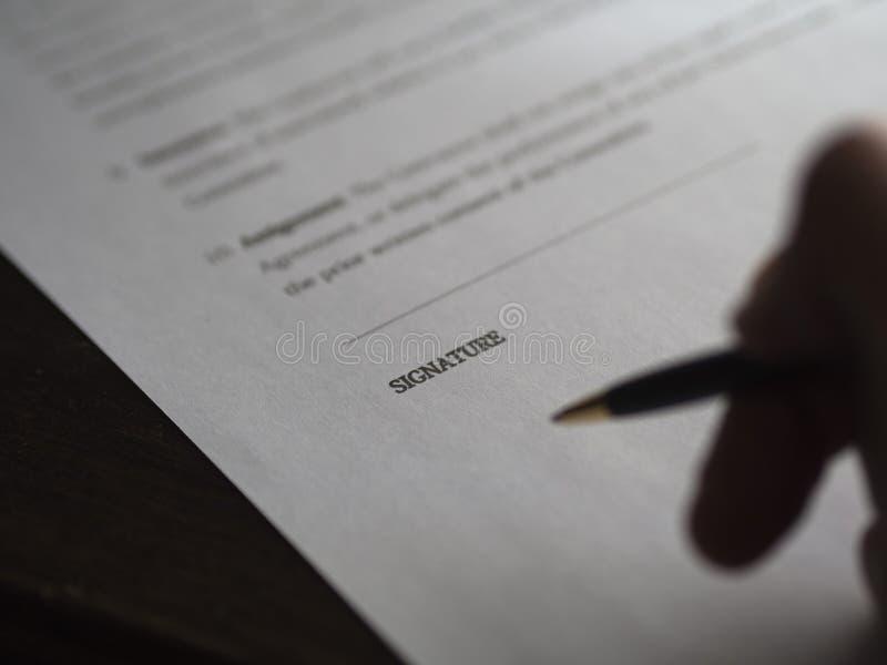 Signing Paperwork royalty free stock photos