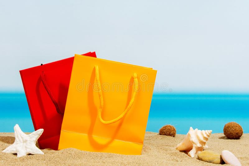 Signings del verano, bolsos en imagen de archivo libre de regalías