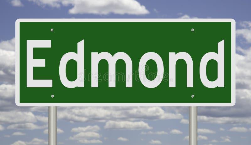 Signo de autopista para Edmond fotos de archivo