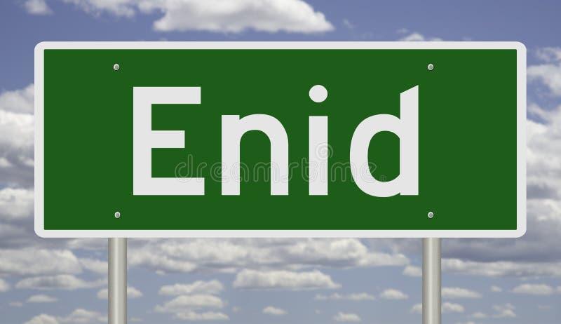 Signo de autopista para Enid fotografía de archivo libre de regalías