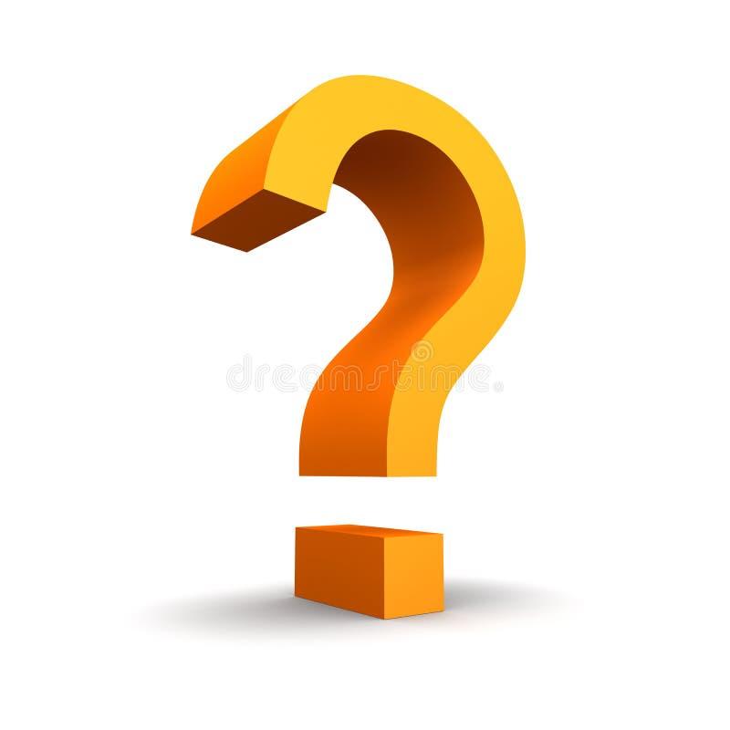 Signo de interrogación anaranjado stock de ilustración