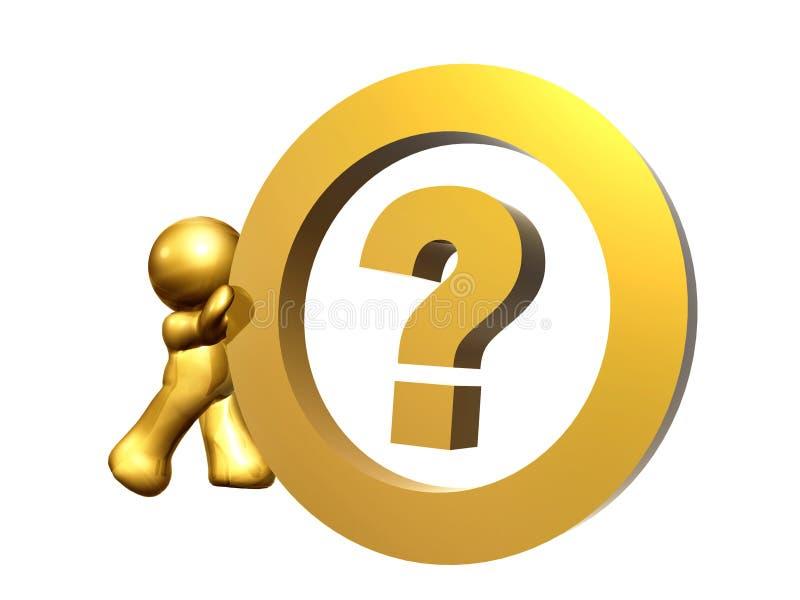 Signo de interrogación como símbolo del centro de información libre illustration
