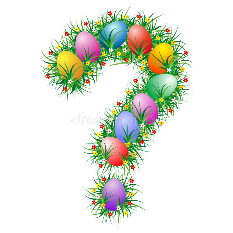Signo de interrogación de Pascua stock de ilustración