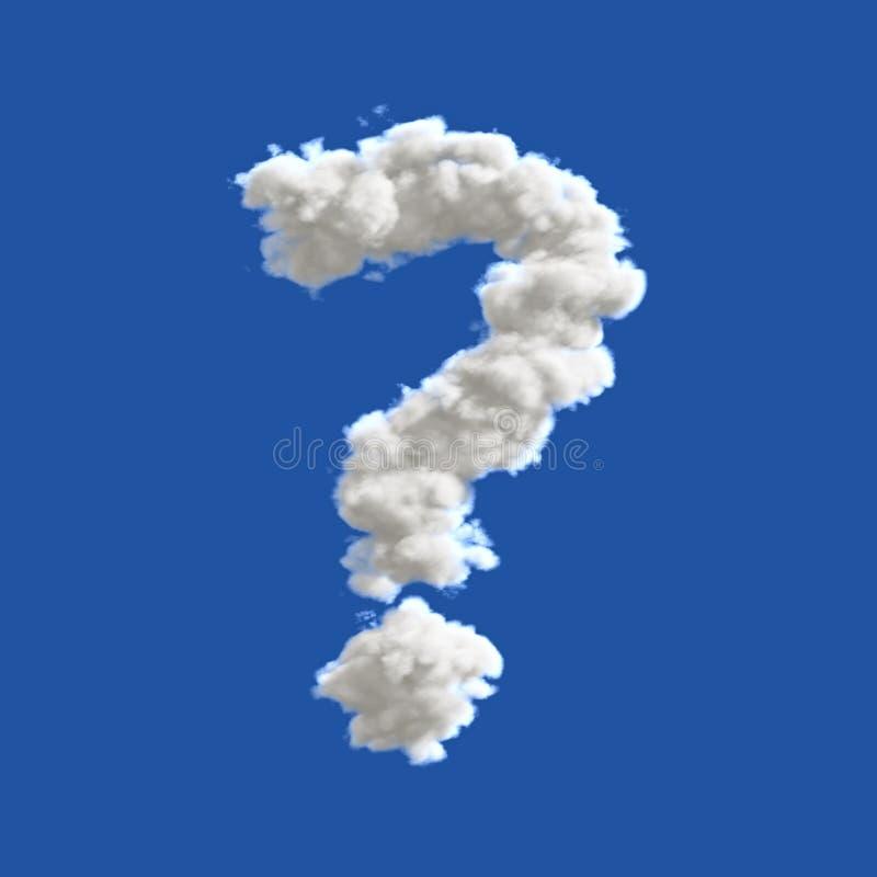 Signo de interrogación en el cielo imagen de archivo libre de regalías