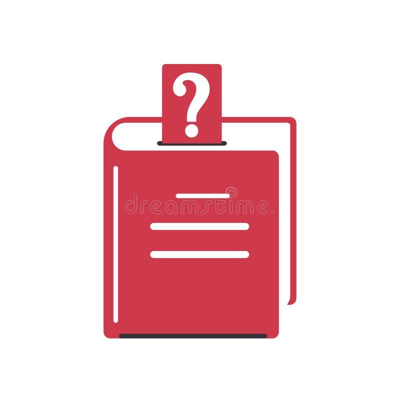 Signo de interrogaci?n del libro cerrado bookmark Icono del color en estilo plano Dise?o del s?mbolo del FAQ, ayuda, aprendiendo ilustración del vector