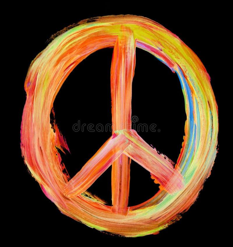 Signo de la paz pintado a mano en negro libre illustration