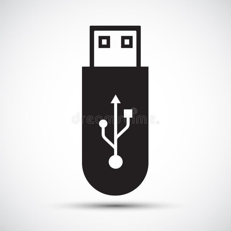 Signo de símbolo USB Flash Drive Isolo en fondo blanco,Ilustración vectorial stock de ilustración