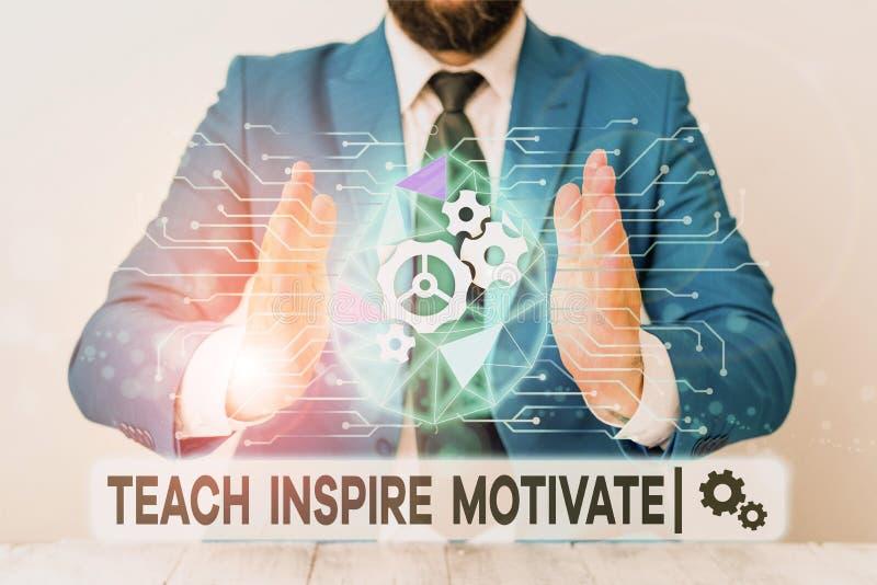 Signo de texto que muestra Teach Inspire Motivate Fotografía conceptual enciende la imaginación para sentir la necesidad de apren imágenes de archivo libres de regalías