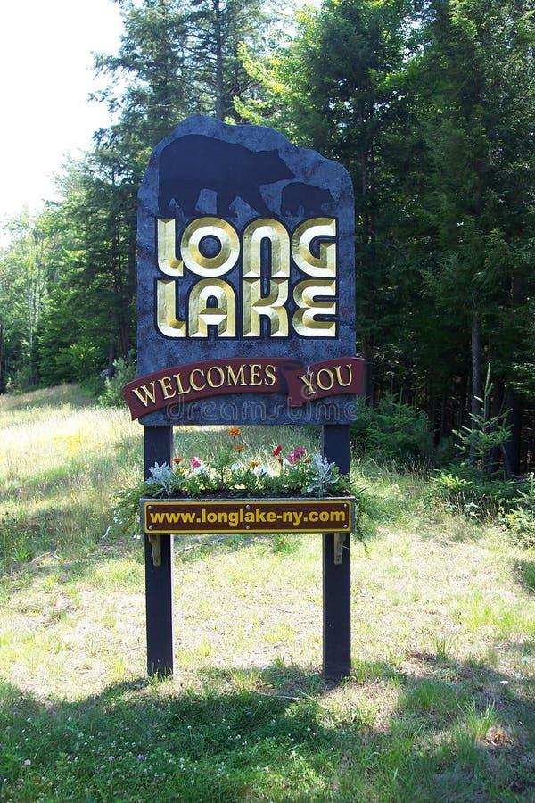 Signo positivo largo del lago fotos de archivo libres de regalías