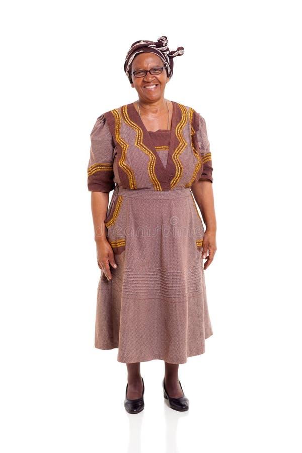 Signora africana anziana fotografie stock