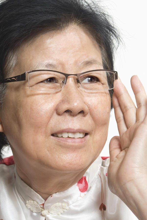 Signora anziana asiatica fotografie stock libere da diritti