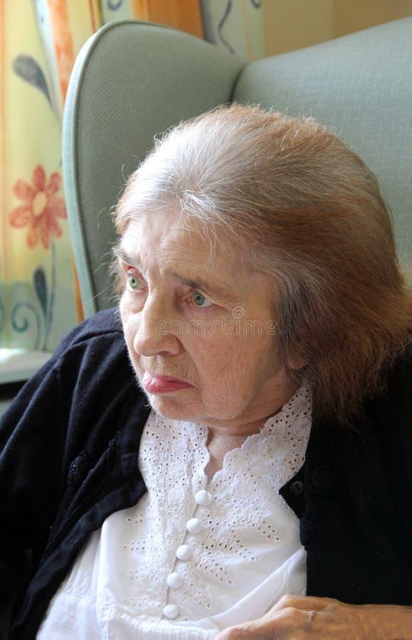 Signora anziana distinta immagine stock libera da diritti