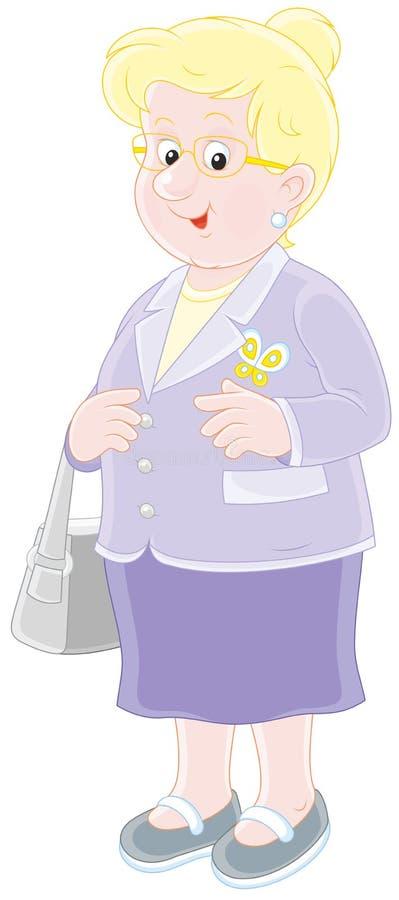 Signora anziana sorridente illustrazione di stock