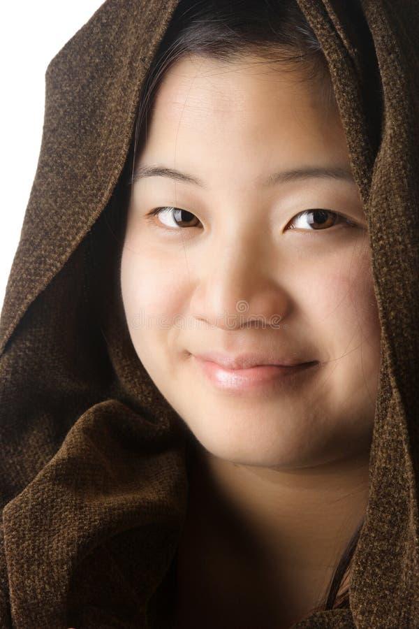 Signora asiatica attraente fotografia stock