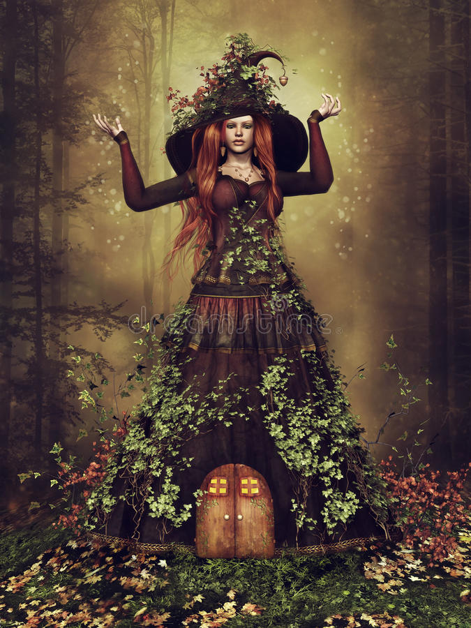 Signora Autumn illustrazione vettoriale