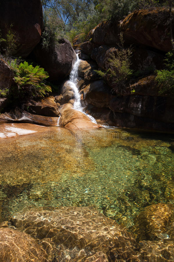 Signora Bath Falls - Buffalo di Mt immagine stock