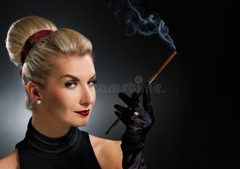Signora Charming con il boccaglio fotografie stock